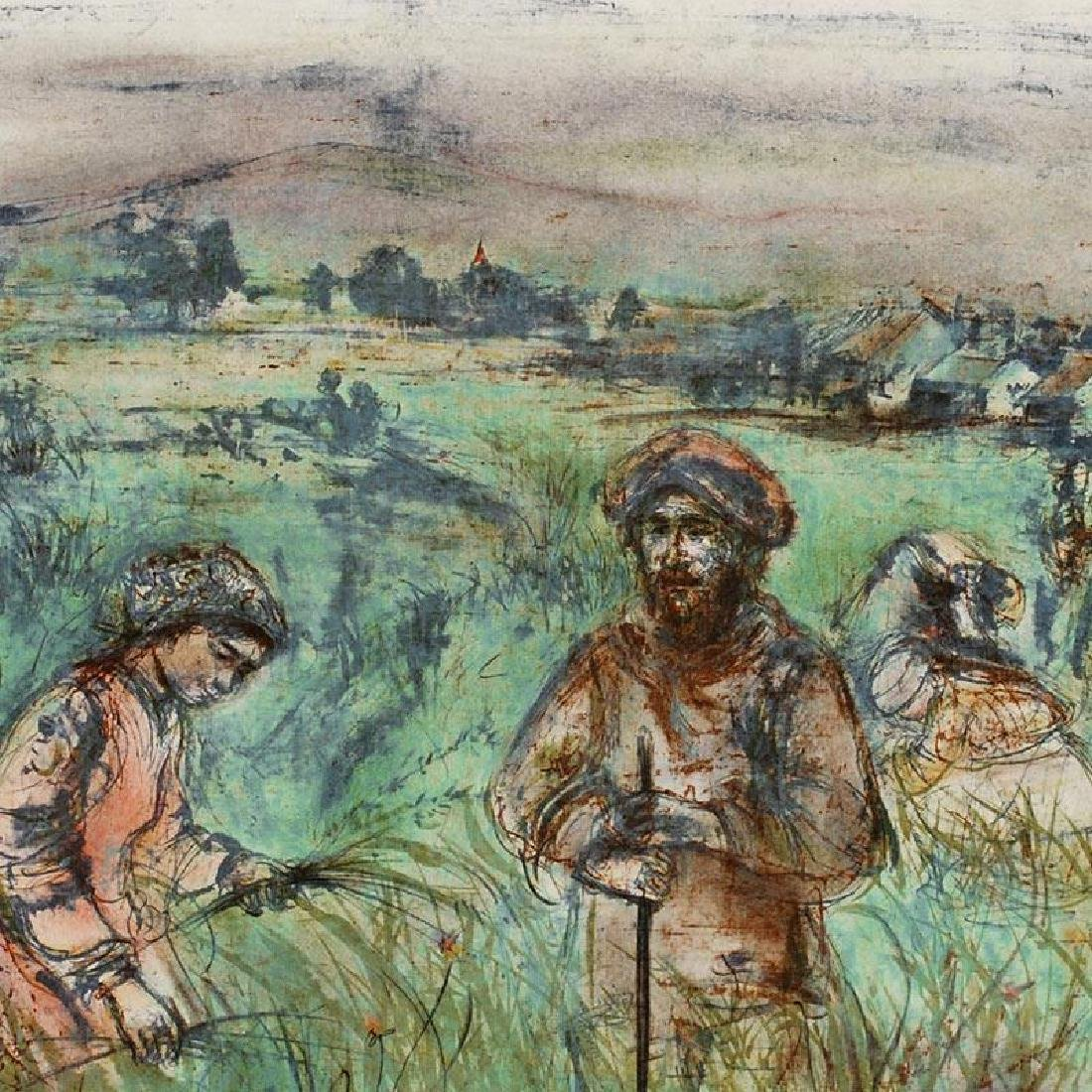 """""""Fields Near Chartres"""" Limited Edition Lithograph by - 2"""