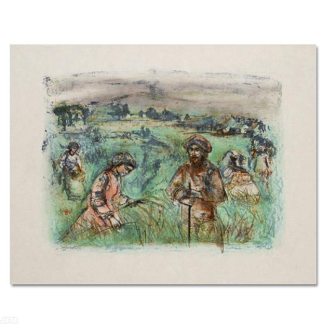 """""""Fields Near Chartres"""" Limited Edition Lithograph by - 3"""