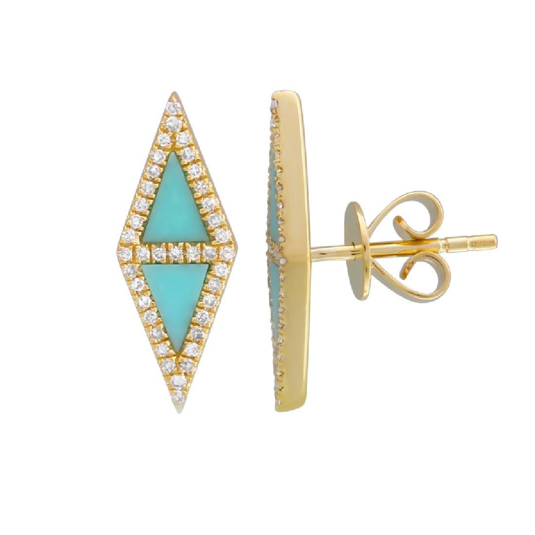 14KT White Gold Gemstone Earrings