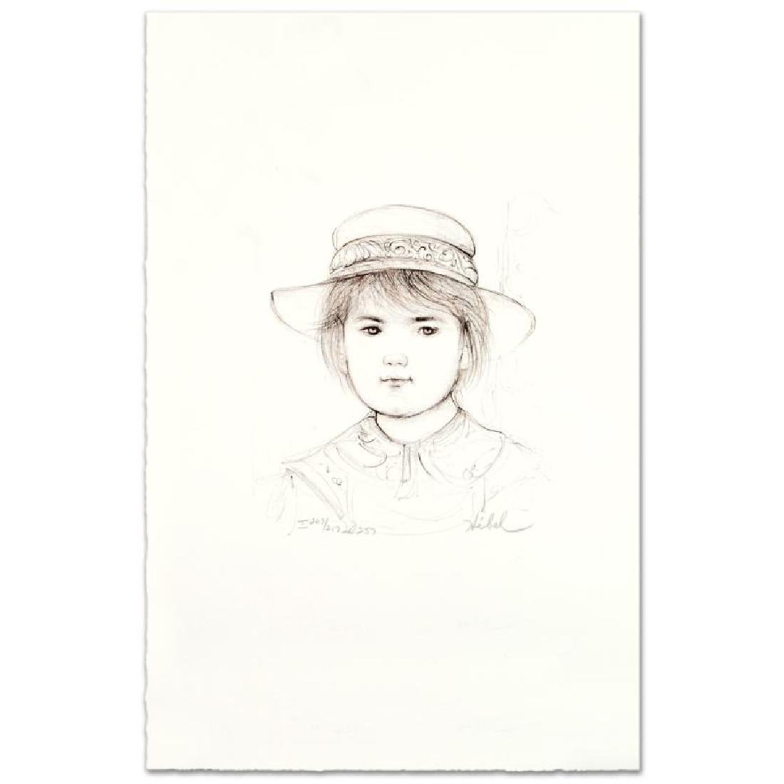 """""""Kirk"""" Limited Edition Lithograph by Edna Hibel - 3"""