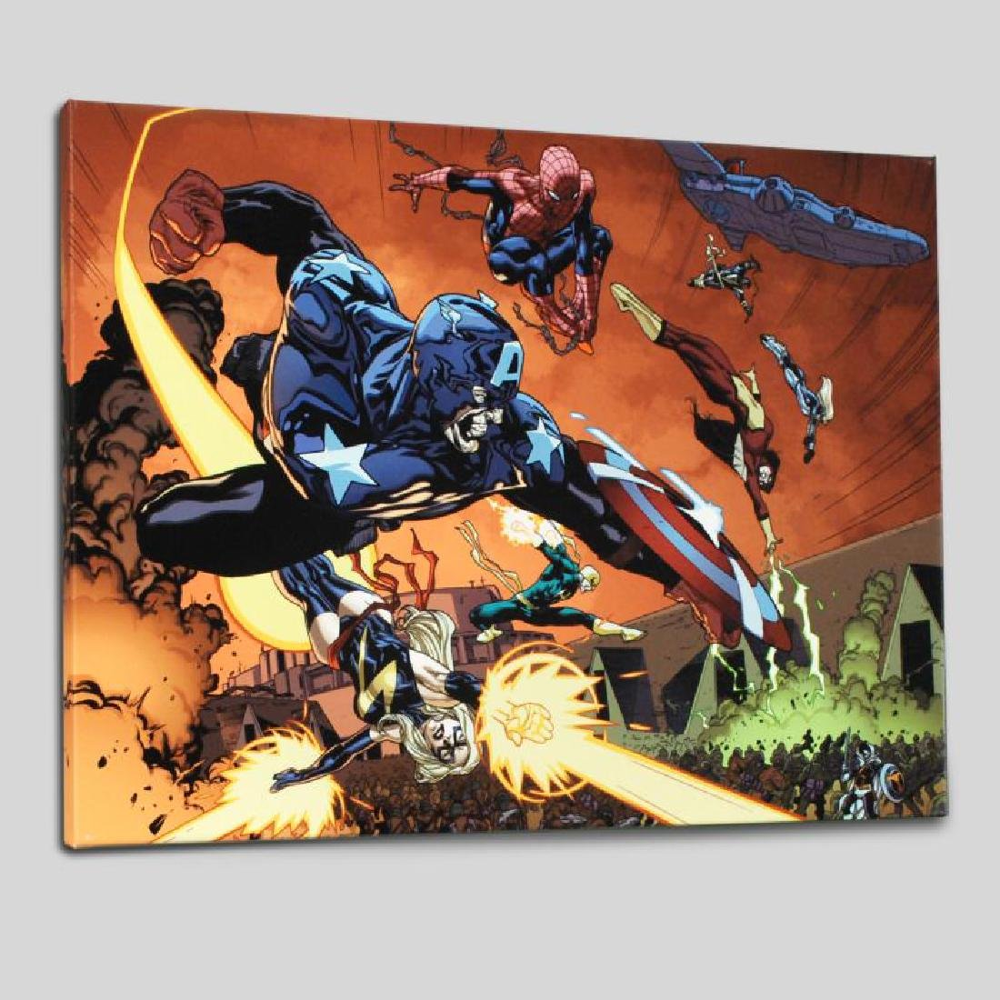 """""""New Avengers #59"""" LIMITED EDITION Giclee on Canvas by"""