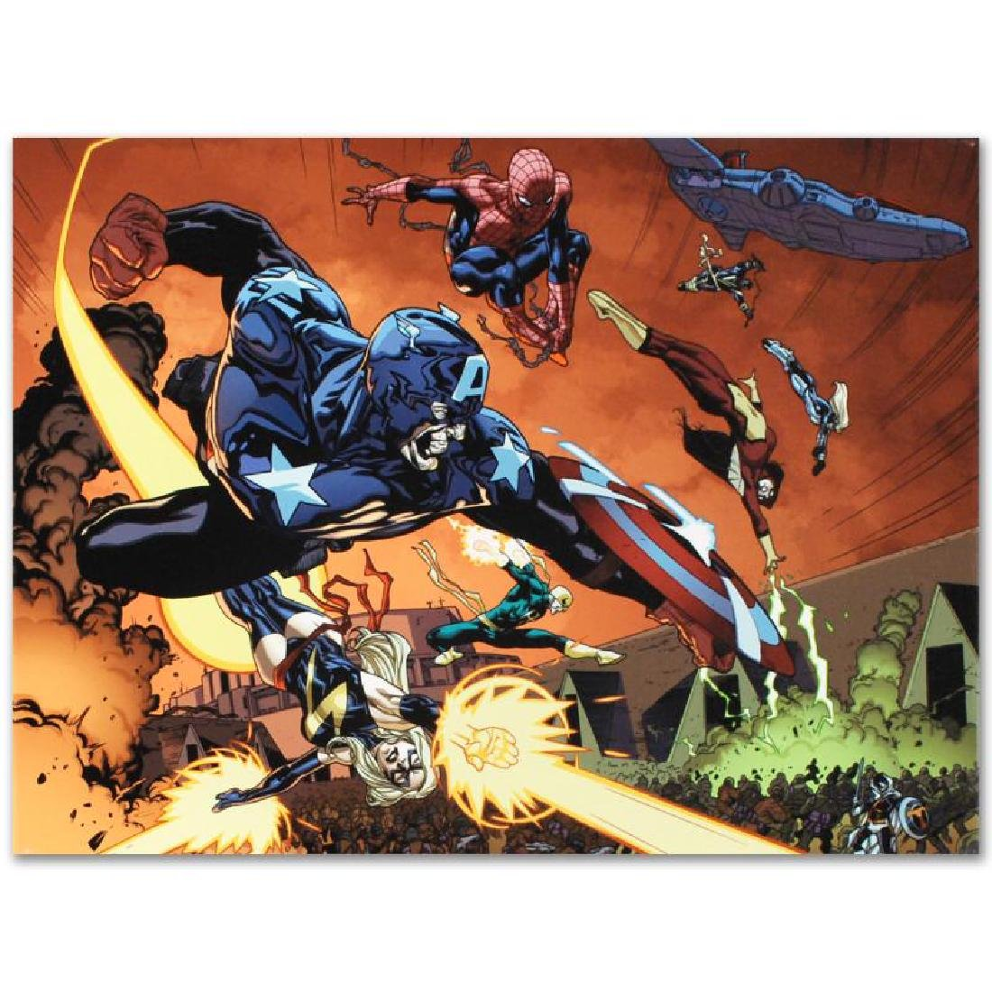 """""""New Avengers #59"""" LIMITED EDITION Giclee on Canvas by - 2"""