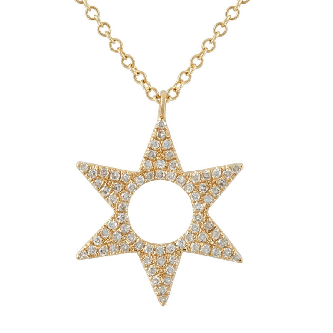 14KT Yellow Gold Diamond Necklace - 2