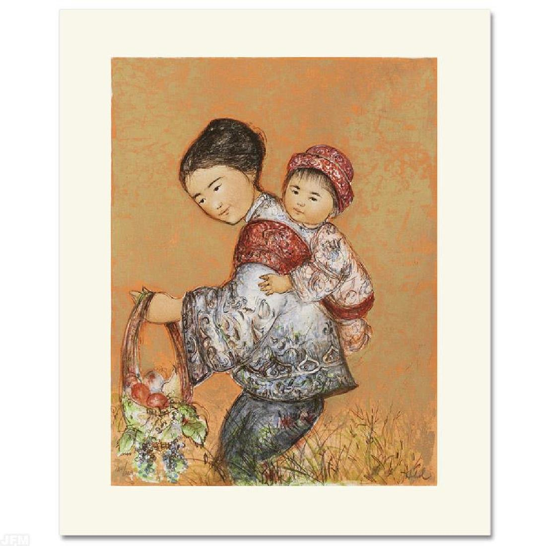"""The Fruit Seller"" Limited Edition Lithograph by Edna"