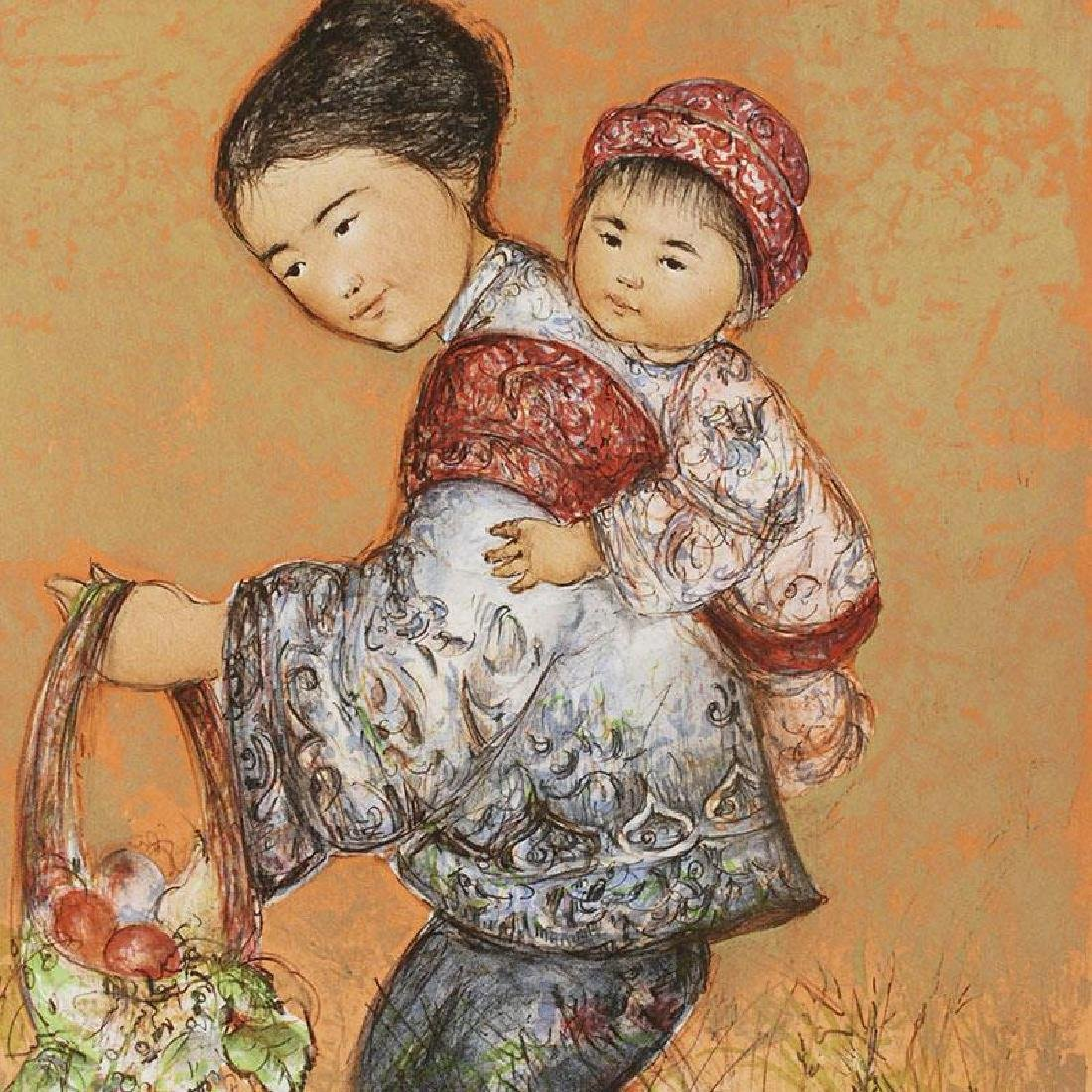 """""""The Fruit Seller"""" Limited Edition Lithograph by Edna - 4"""