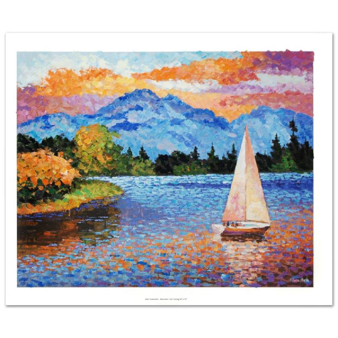 """Mountain Lake Sailing"" Limited Edition Hand"