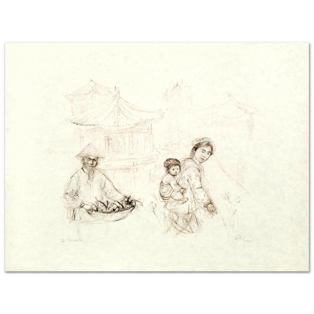 """Then and Now"" Limited Edition Lithograph by Edna Hibel"