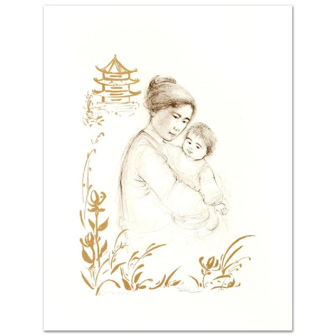 """Lei Jeigiong and her Baby in the Garden of Yun-Tai"""