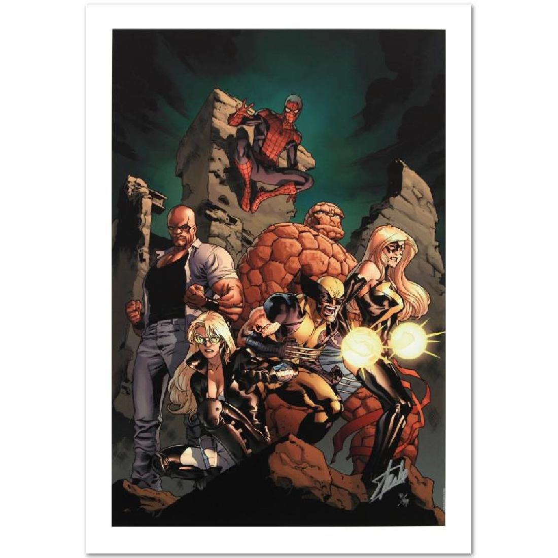 """""""New Avengers #7"""" Limited Edition Giclee on Canvas by"""