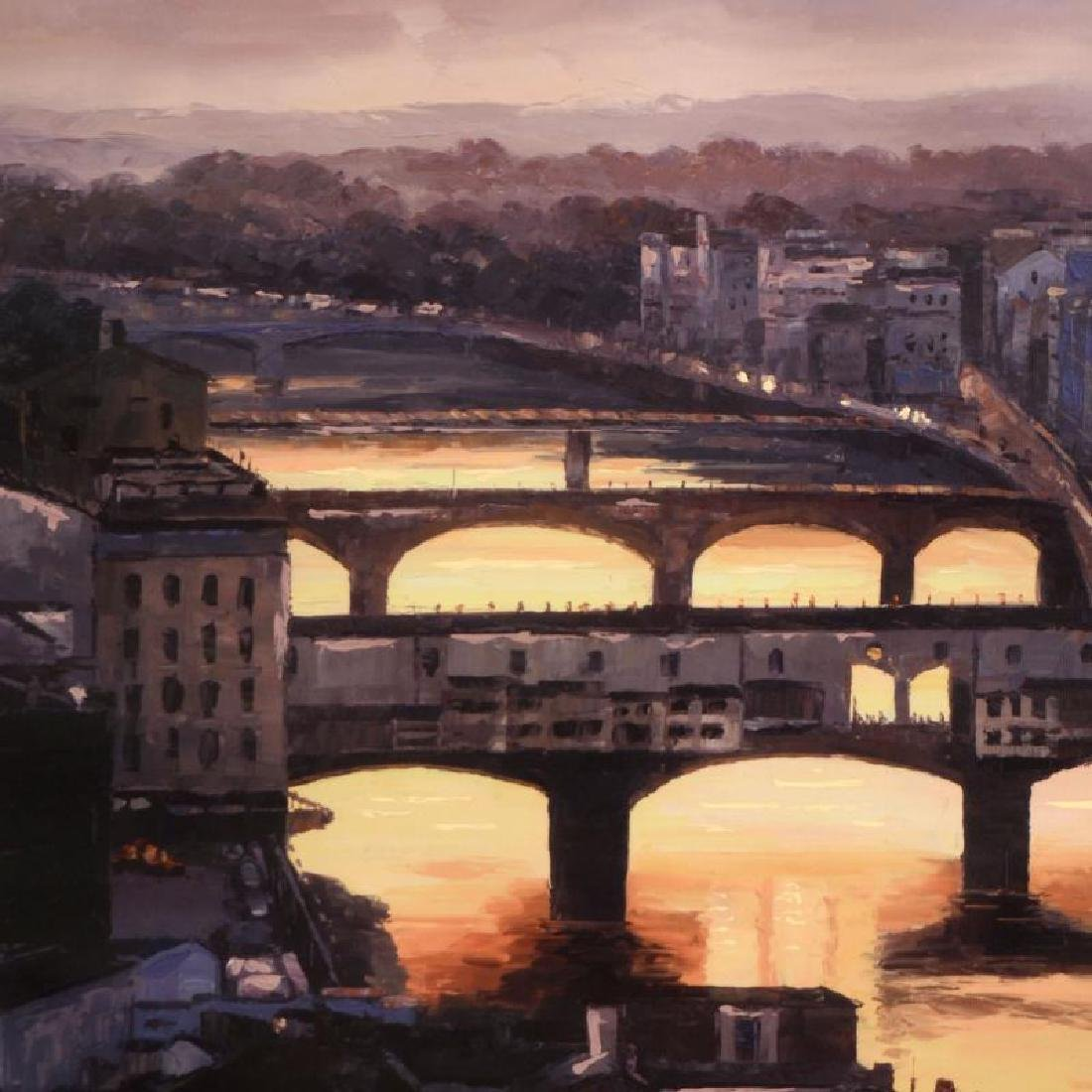 """Howard Behrens (1933-2014) - """"Sunset at the Ponte - 2"""