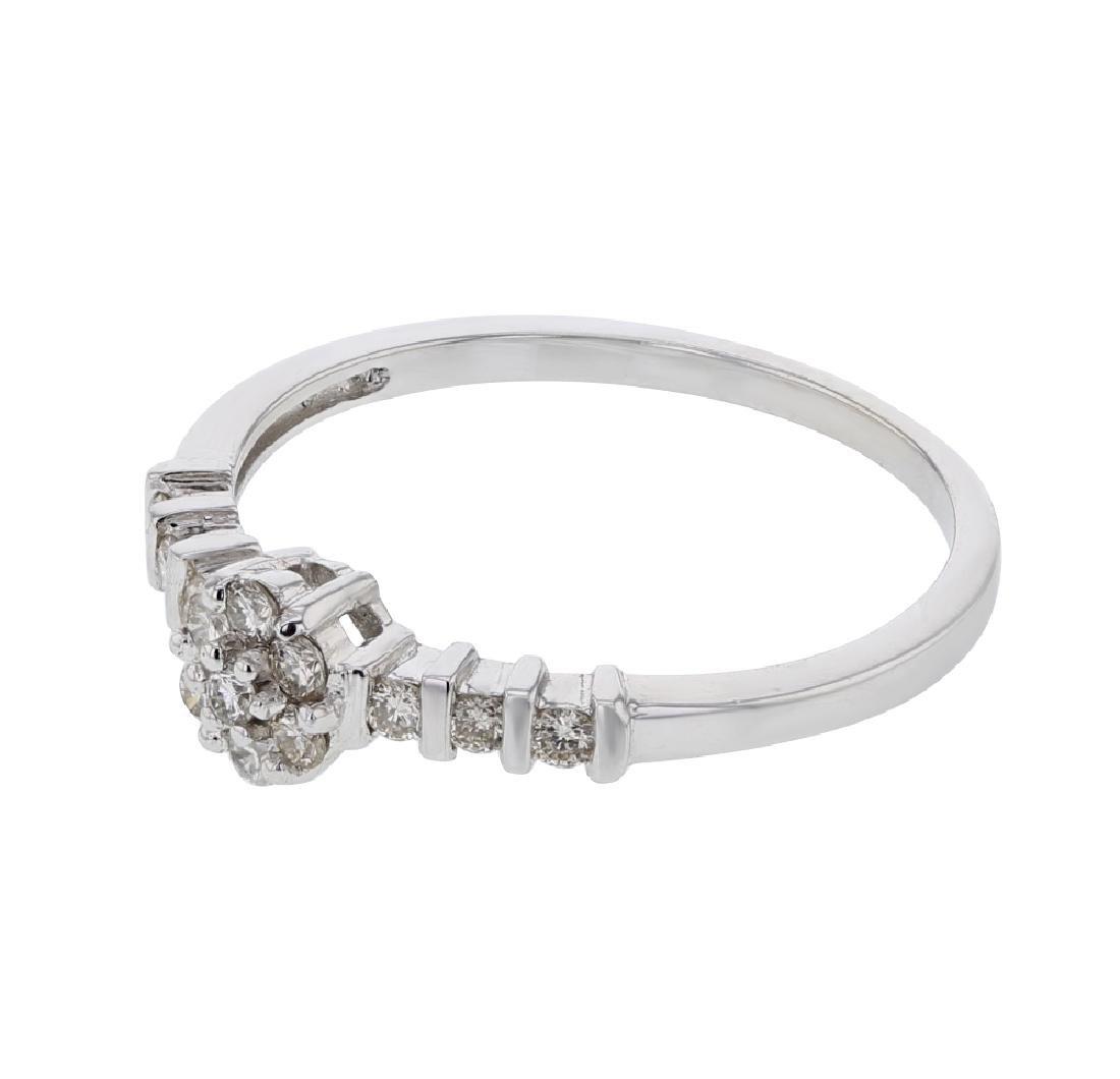 14KT White Gold Ladies Diamond Ring