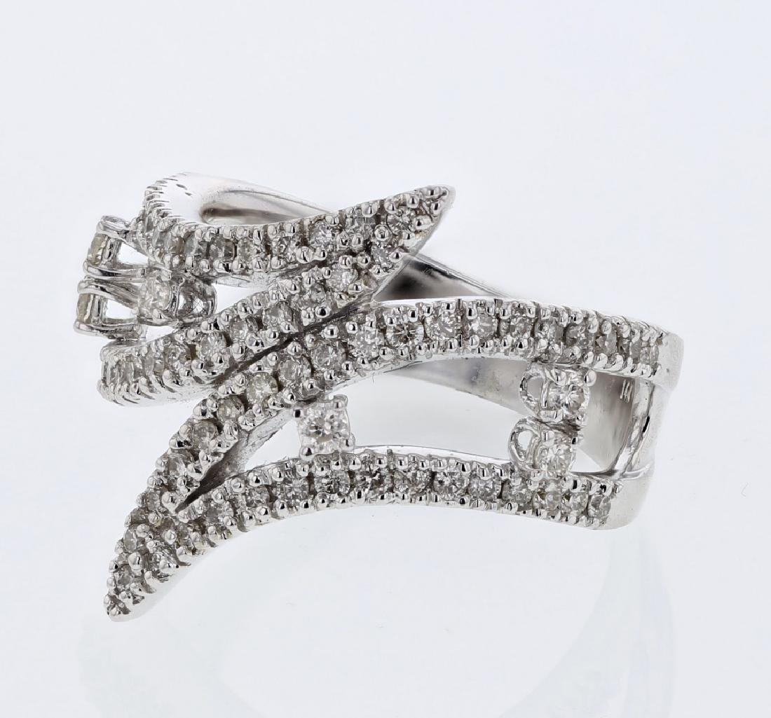 18KT White Gold Ladies Diamond Fashion Ring