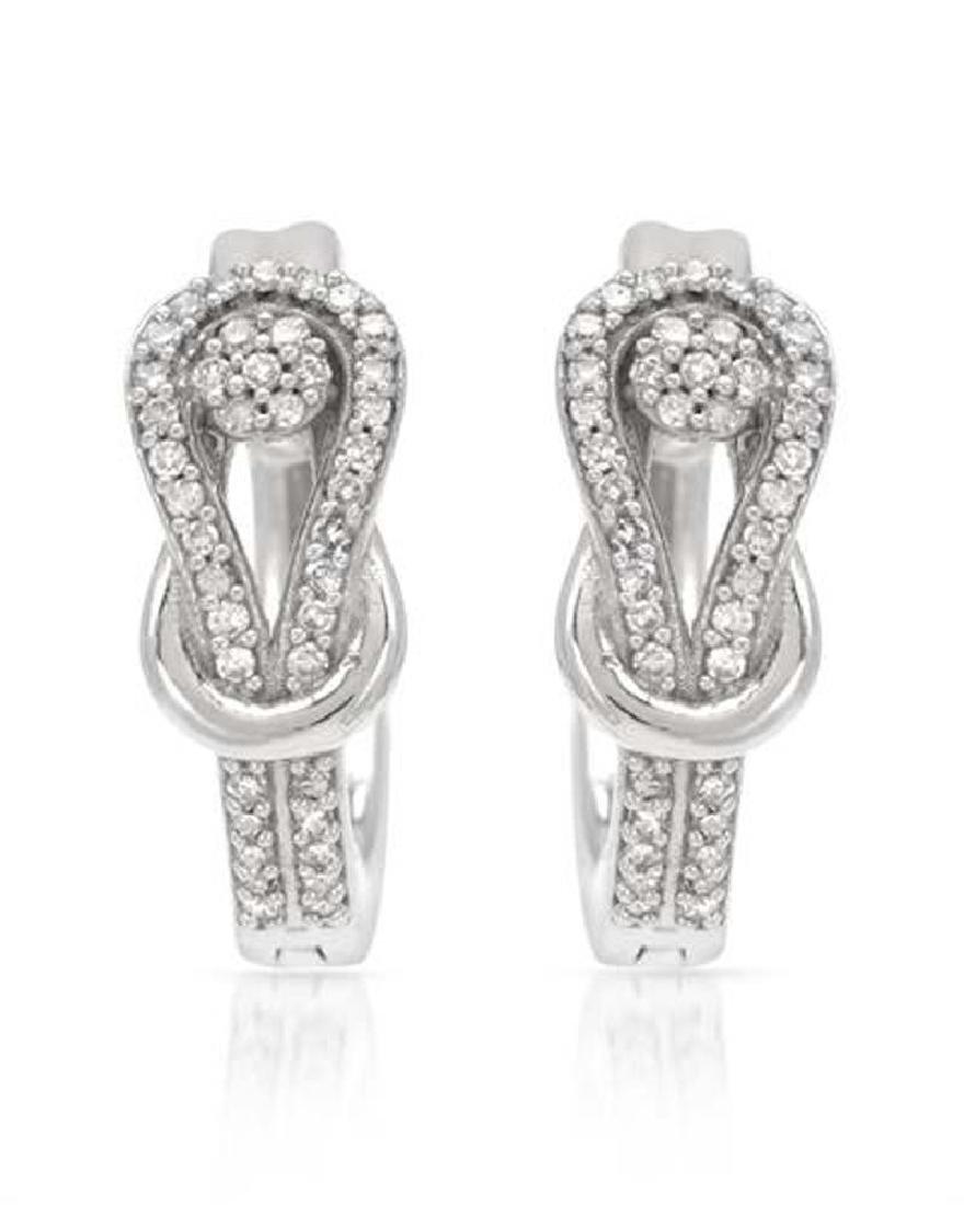 14KT White Gold Ladies Diamond Earring