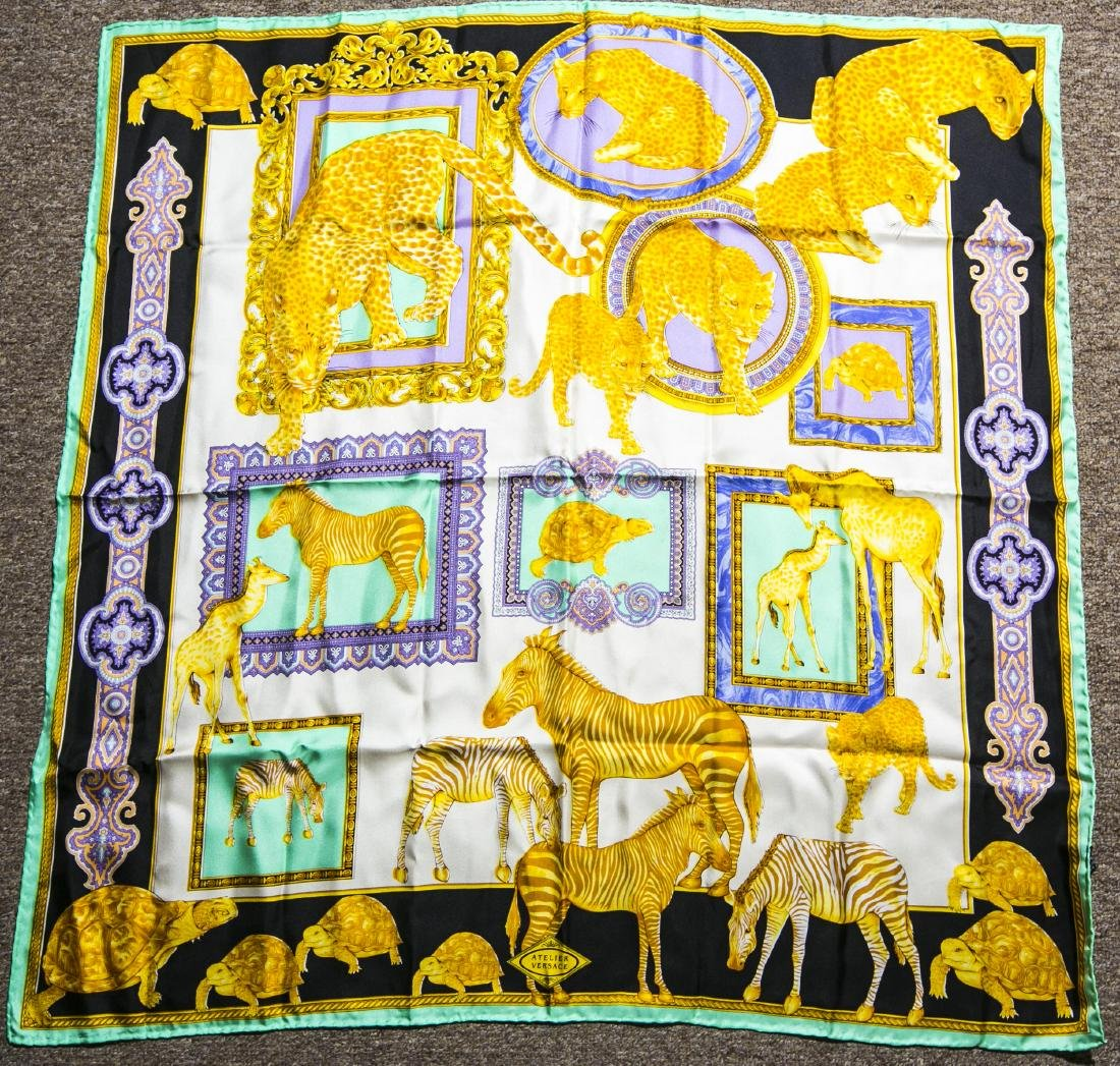 Authentic Atelier Versace Yellow Silk Scarf in Zoo