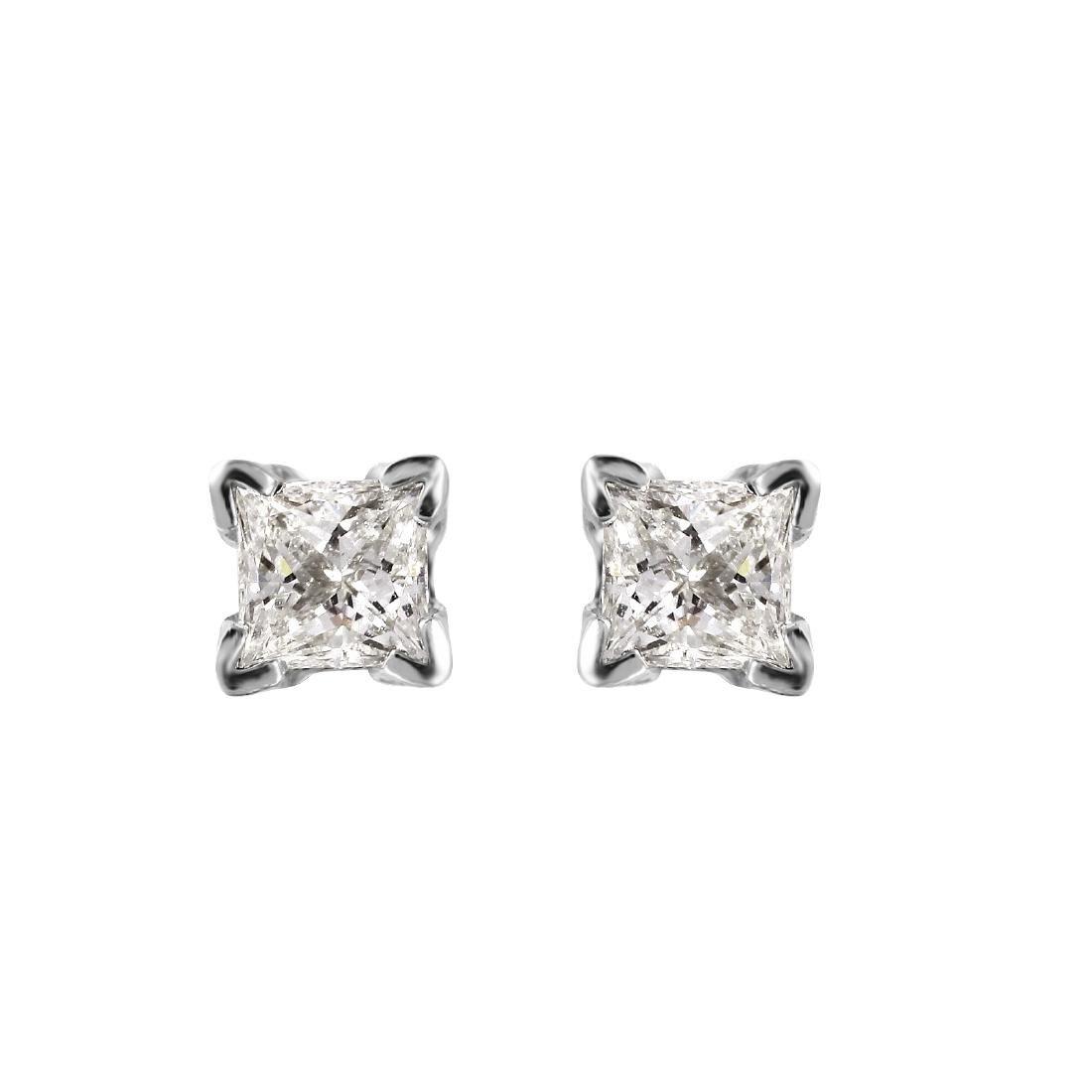 14KT White Gold 0.38ctw Diamond Stud Earrings L1606