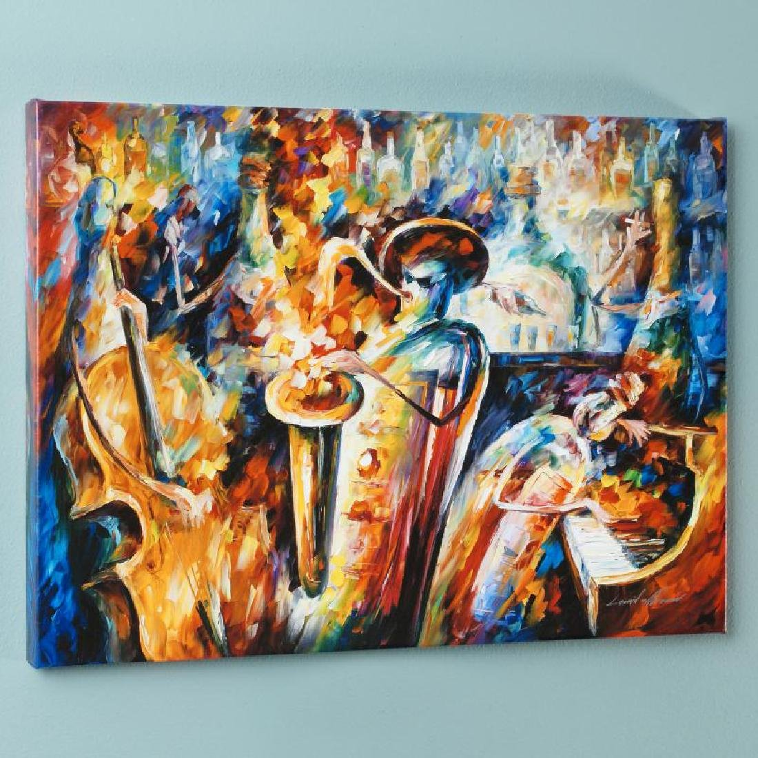 """""""Bottle Jazz III"""" LIMITED EDITION Giclee on Canvas by"""