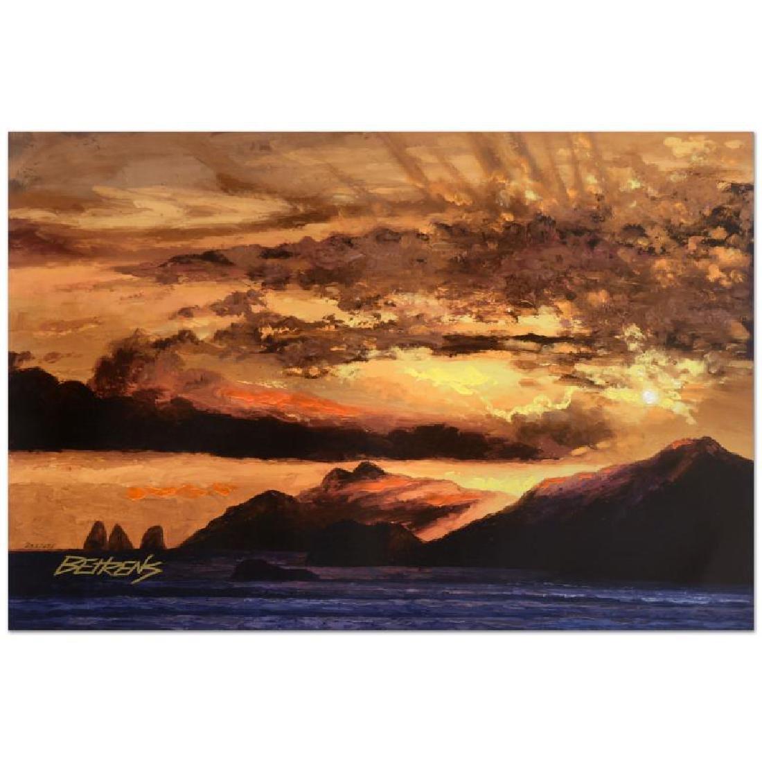 """Howard Behrens (1933-2014) - """"Sunset Over Capri"""""""