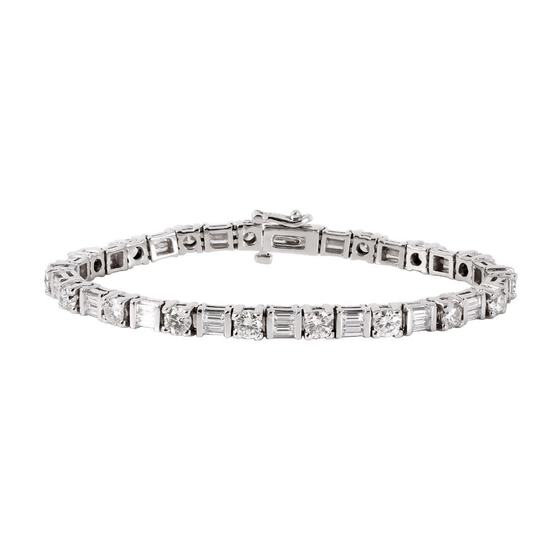 New Platinum 10.01ctw Diamond Tennis Bracelet Length