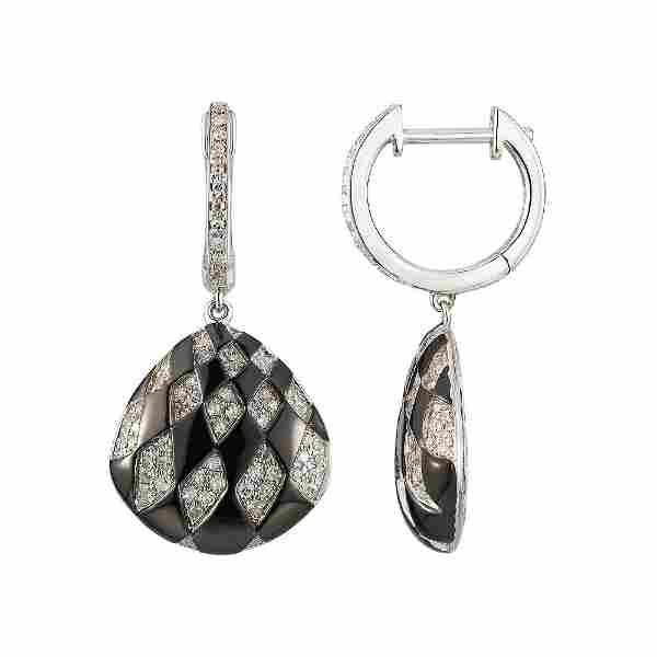 14KT White Gold 0.51ctw Diamond Earrings L6156