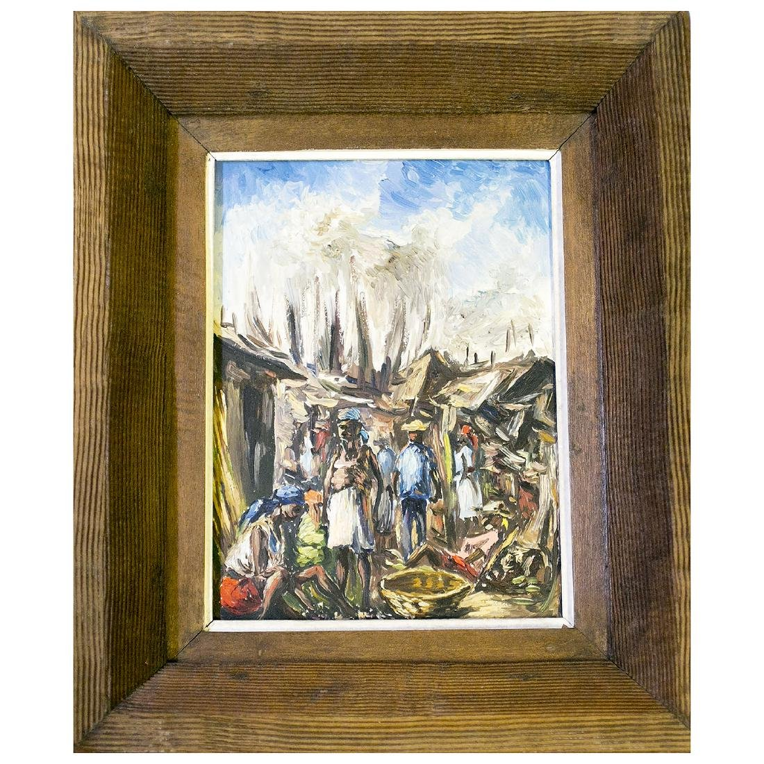 Haitian Impressionist Master Artist Ernest Louizor Oil
