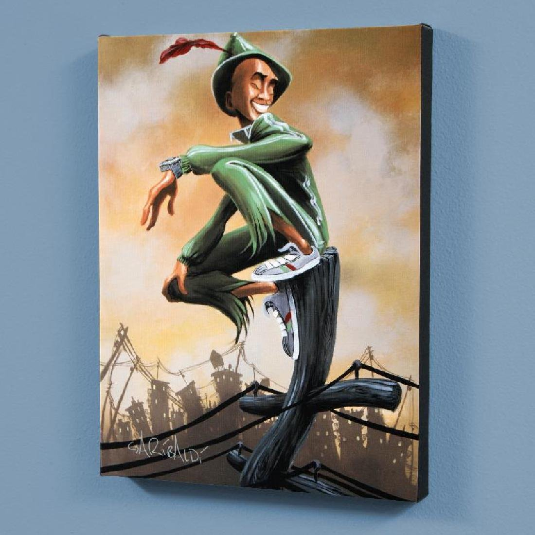 """""""Peter Pan"""" LIMITED EDITION Giclee on Canvas by David"""