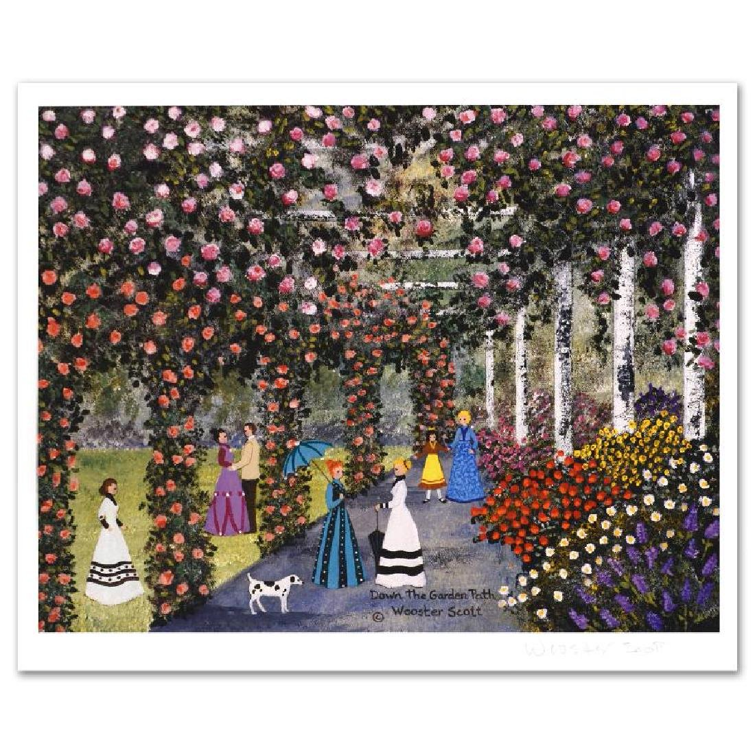 Down the Garden Path Limited Edition Lithograph by Jane