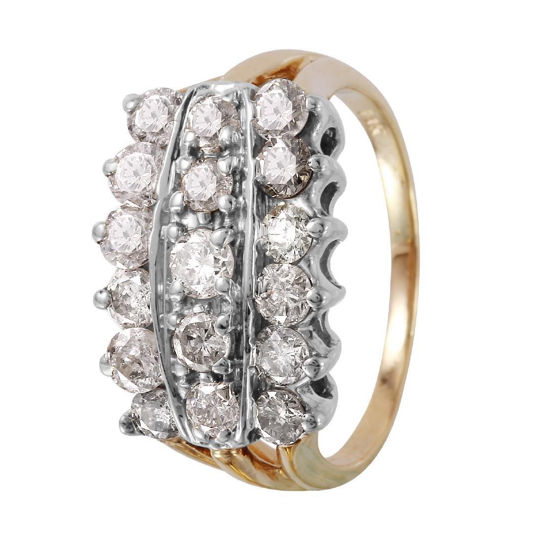 14KT Yellow Gold 1.50ctw Diamond Ring Size 8 L1177