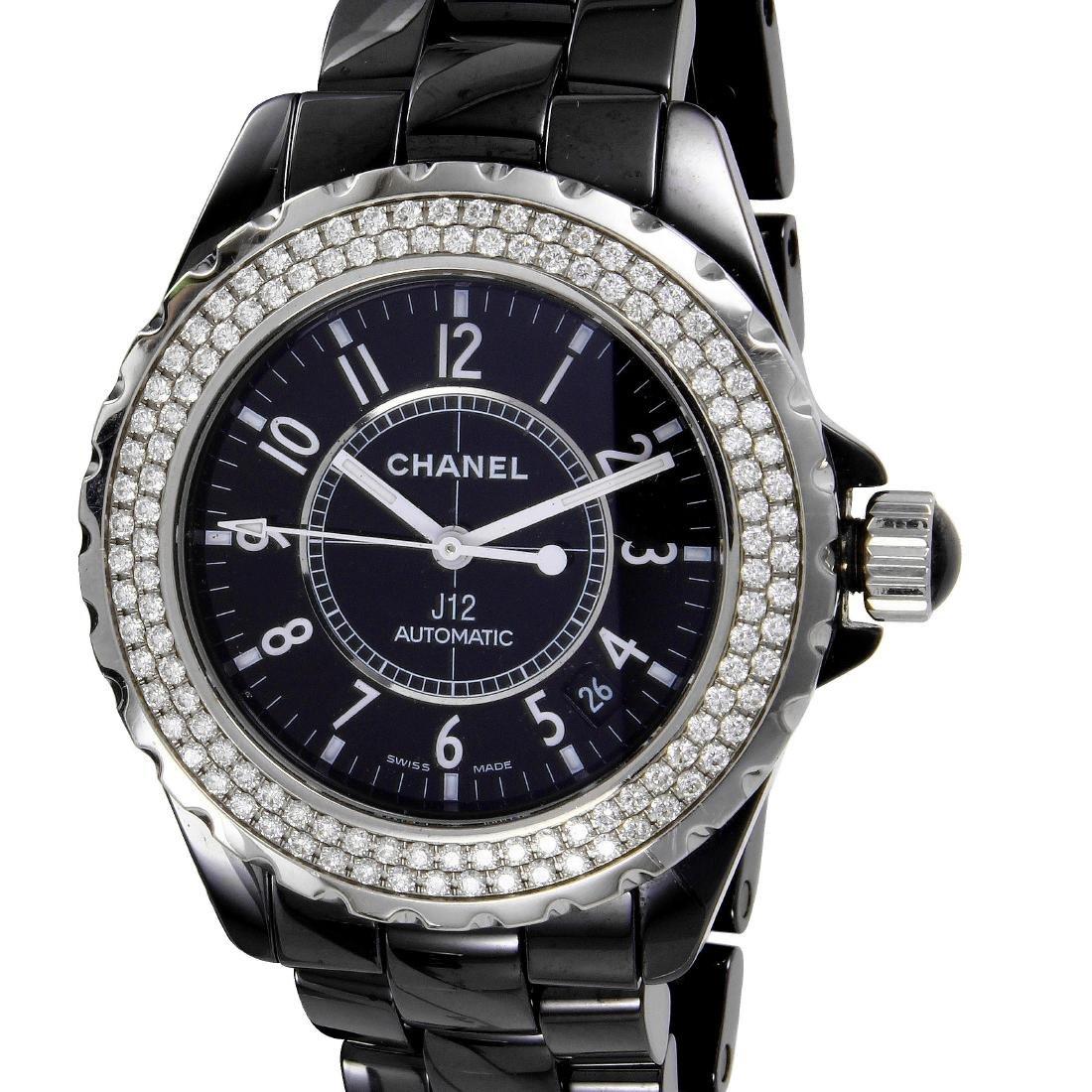 CHANEL J12 Watch Ceramic Ladies Diamond Automatic L951