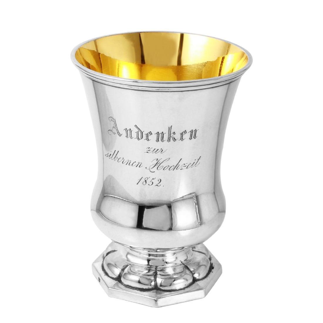 German Silver Wedding Anniversary 1852 Cup Sterling