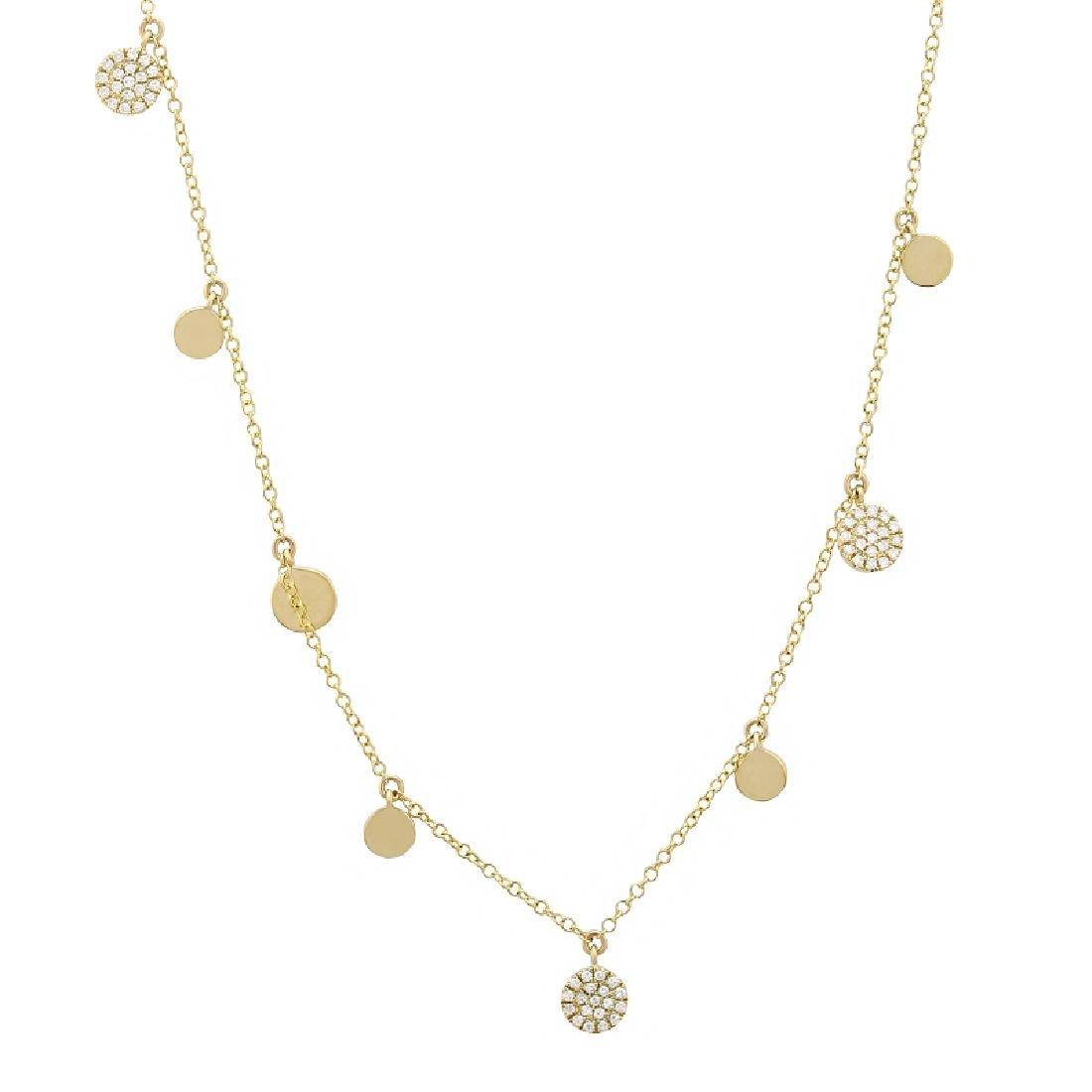 "14KT Yellow Gold 0.26ctw Diamond Necklace Length 18"""