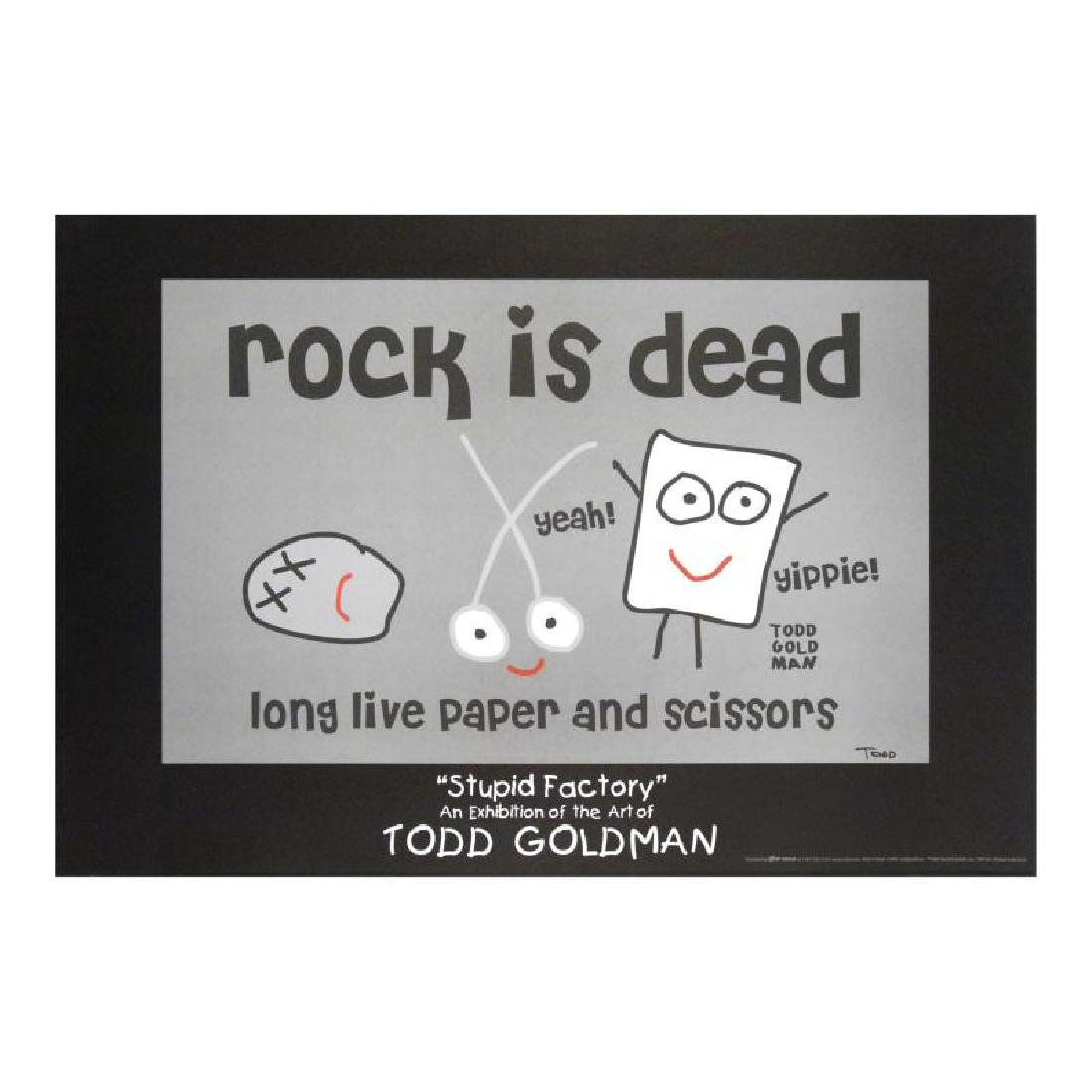"""""""Rock is Dead"""" FINE ART Litho Poster Hand Signed by"""