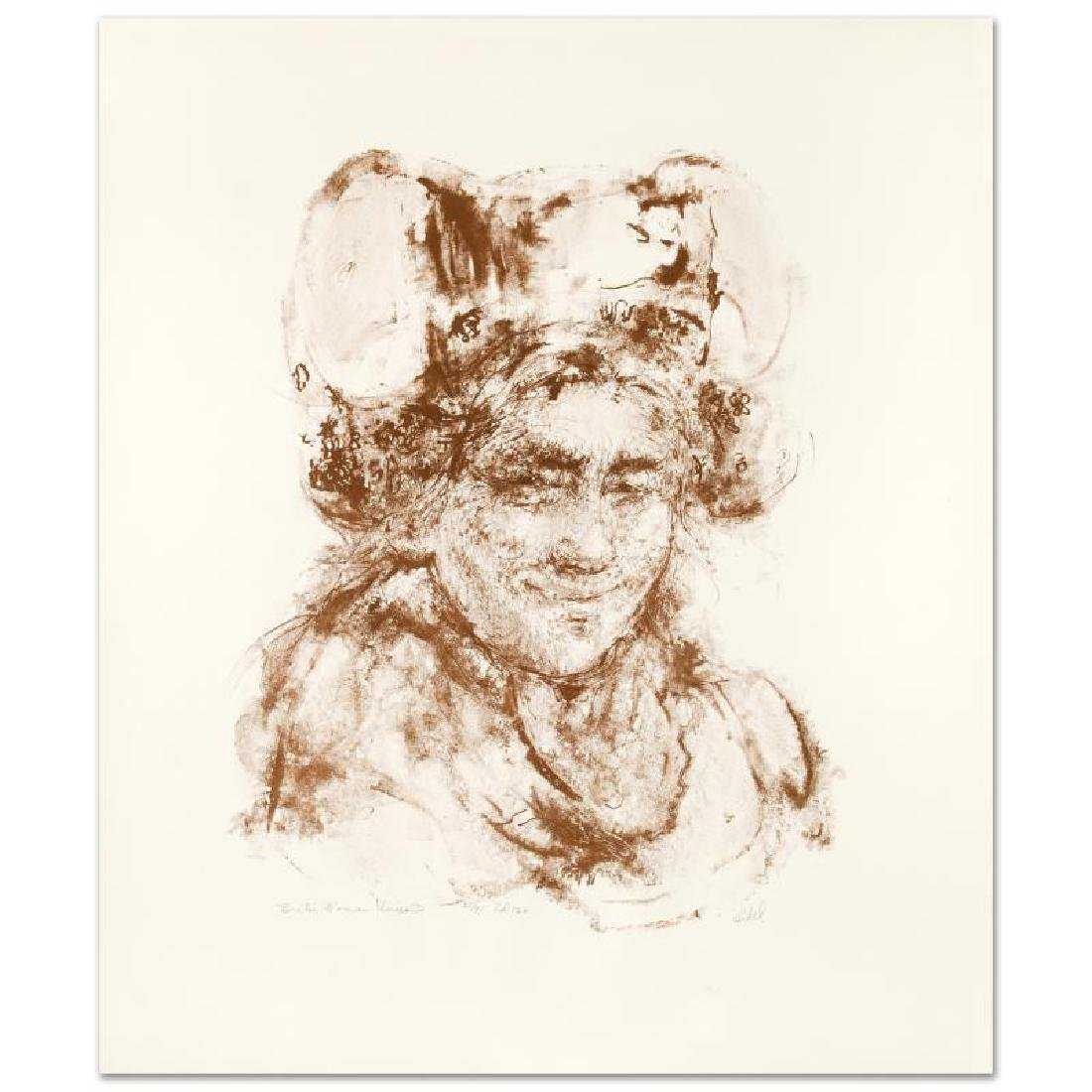 """""""Breton Woman"""" Limited Edition Lithograph by Edna Hibel"""