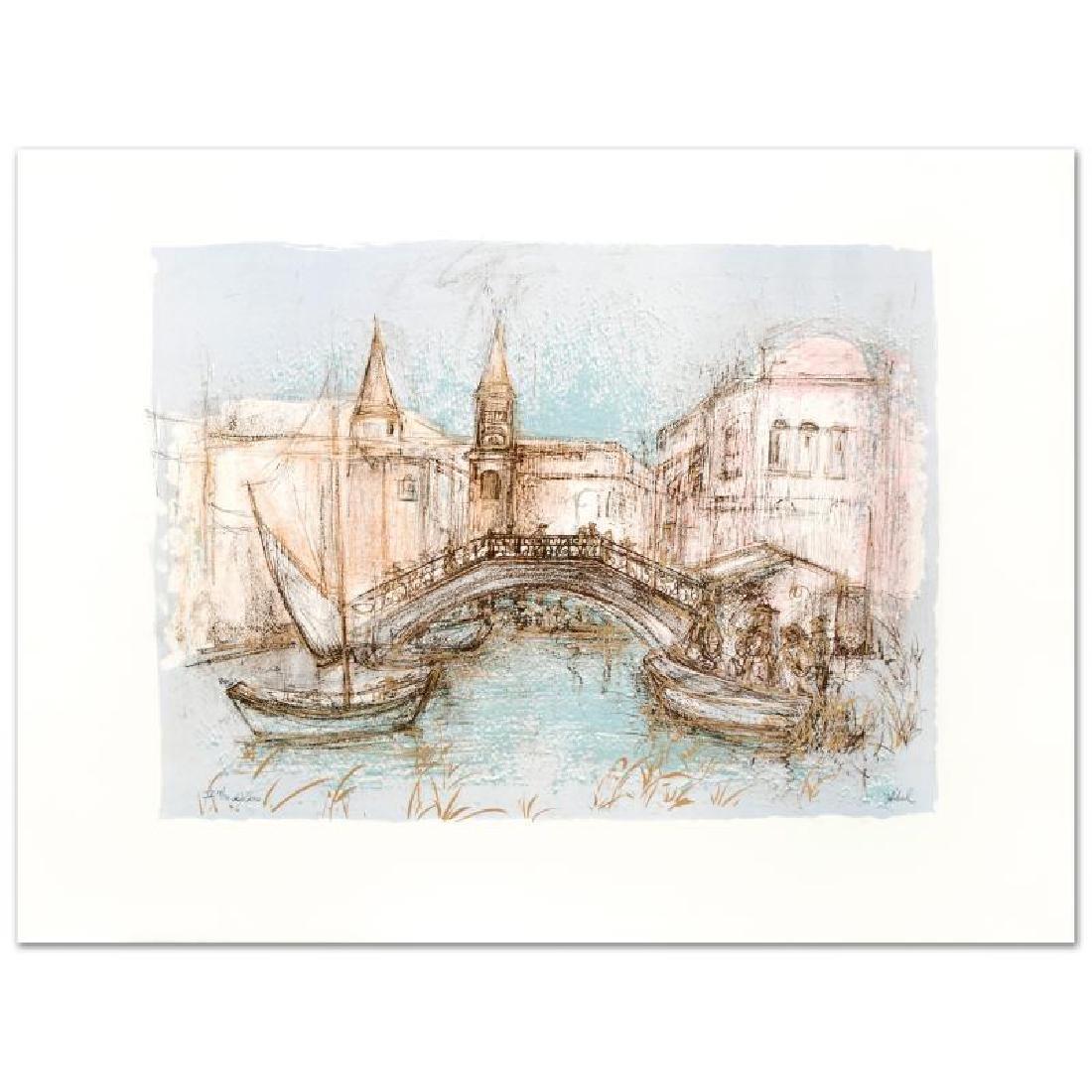 """Chioggia"" Limited Edition Lithograph by Edna Hibel"