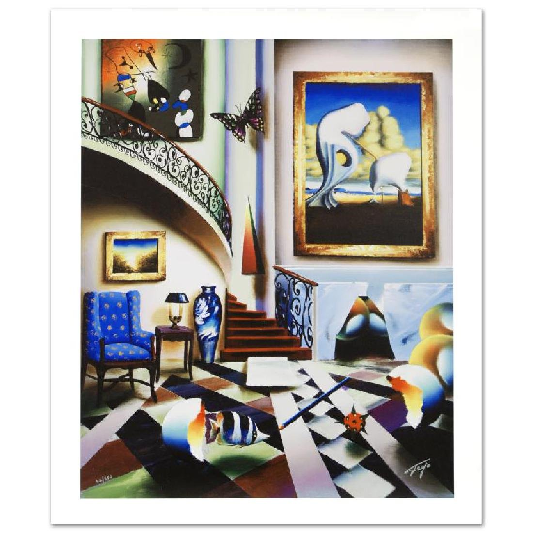 """Surrealist Stairway"" Limited Edition Giclee on Canvas"