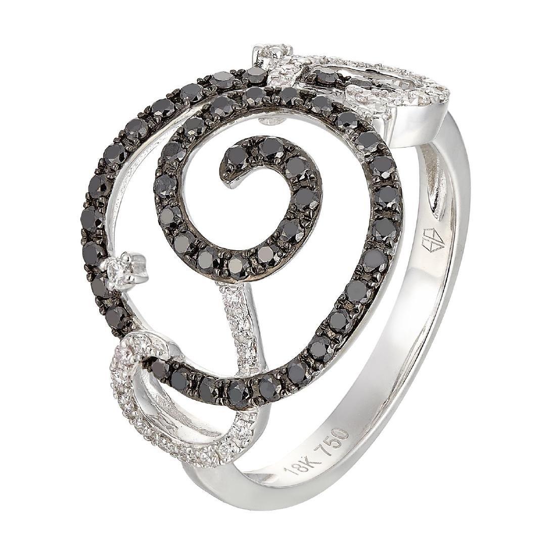 18k Gold 0.50ctw Women's Diamond Cocktail Ring Size 6.5