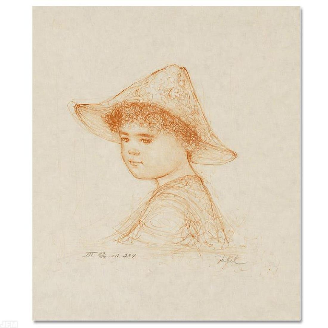 """""""Anthony"""" Limited Edition Lithograph by Edna Hibel"""