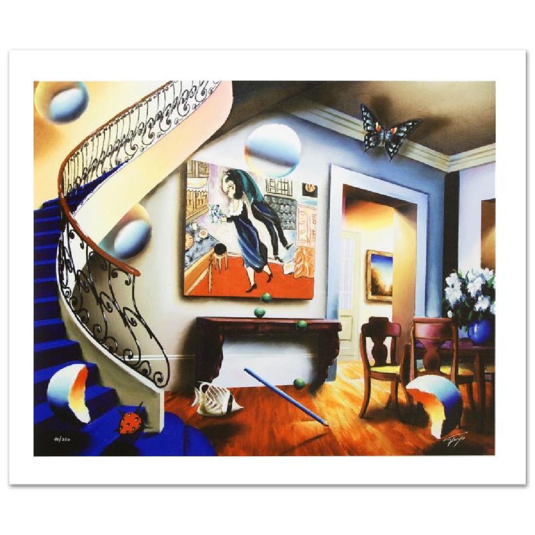 """Dining with Chaggall"" Limited Edition Giclee on Canvas"