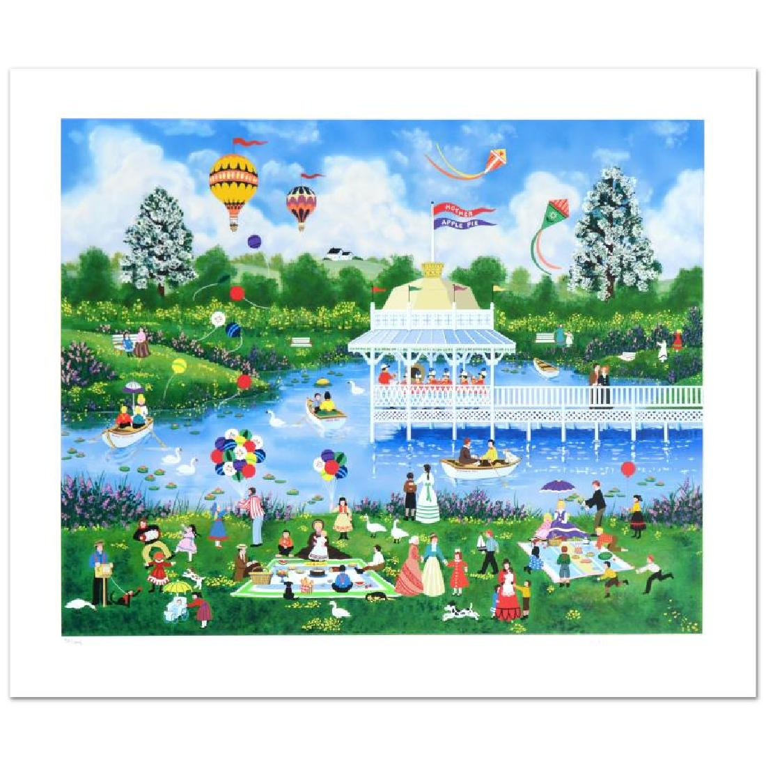"""Mother's Day Picnic"" Limited Edition Serigraph by Jane"