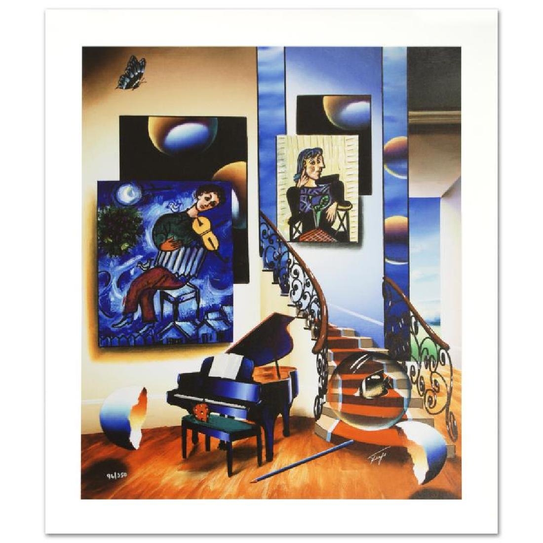 """""""Fiddler"""" Limited Edition Giclee on Canvas by Ferjo,"""