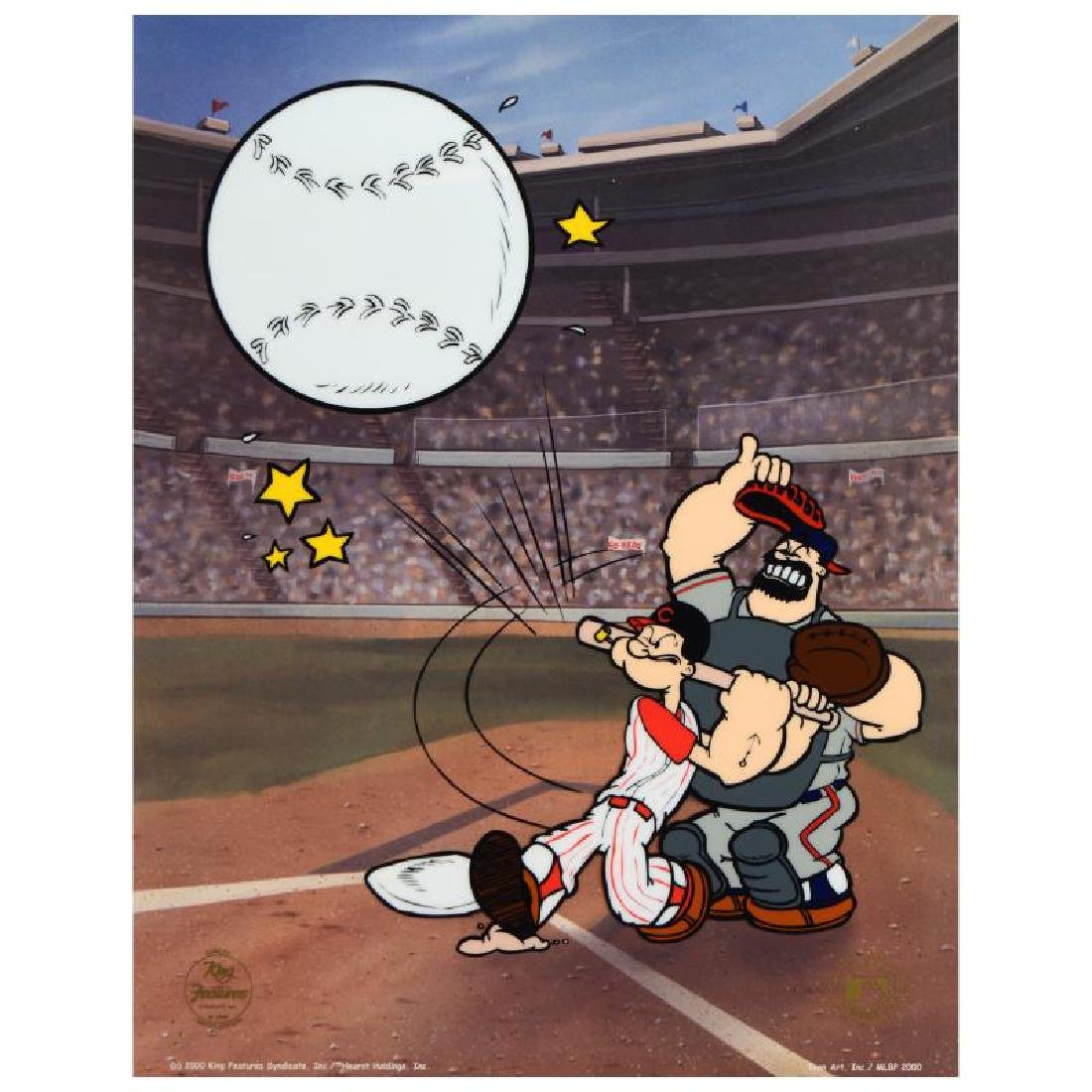 """""""Homerun Popeye - Reds"""" Limited Edition Sericel from"""