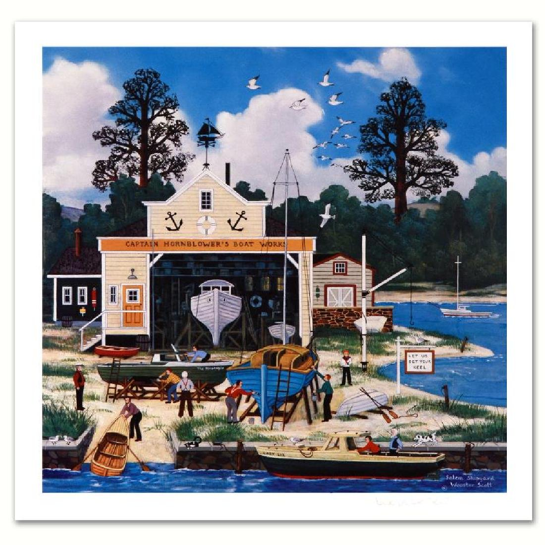 """Salem Shipyard"" Limited Edition Lithograph by Jane"