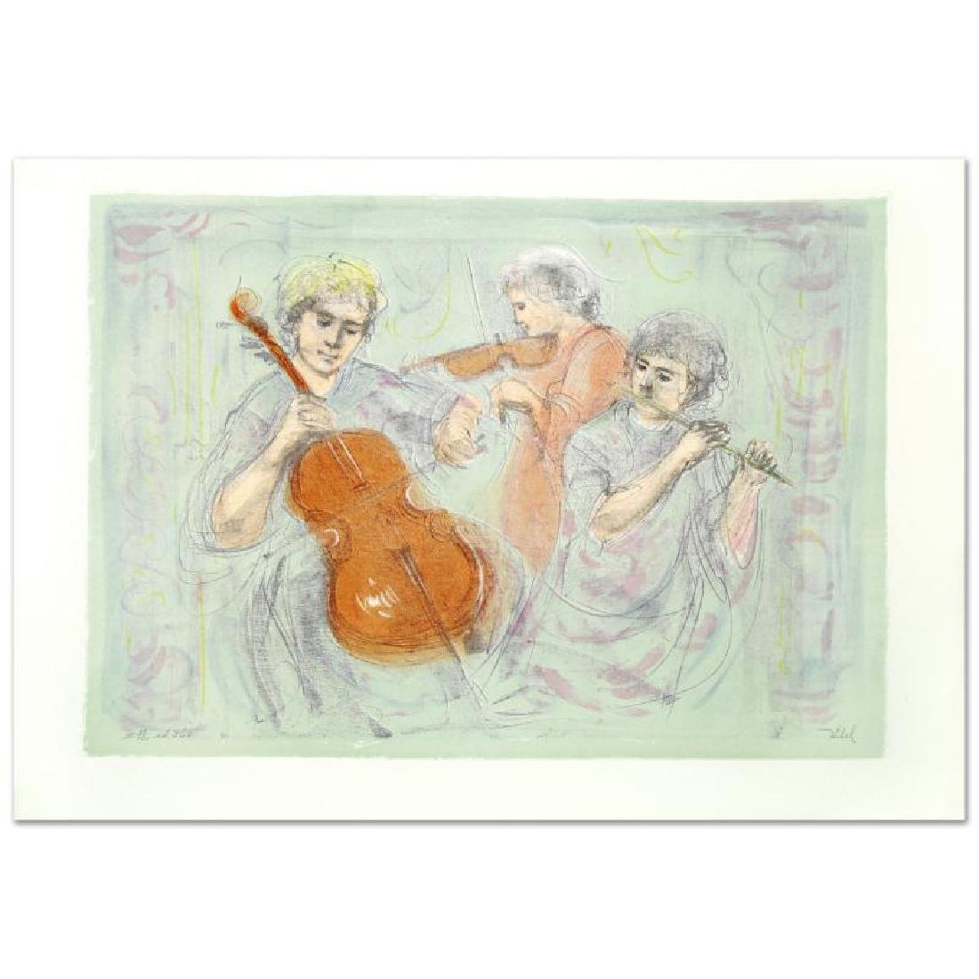 """""""Trio"""" Limited Edition Lithograph by Edna Hibel"""