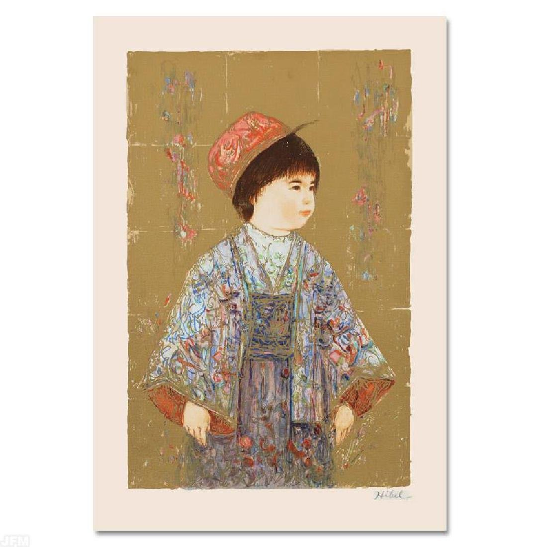 """""""Festival Day"""" Limited Edition Serigraph by Edna Hibel"""
