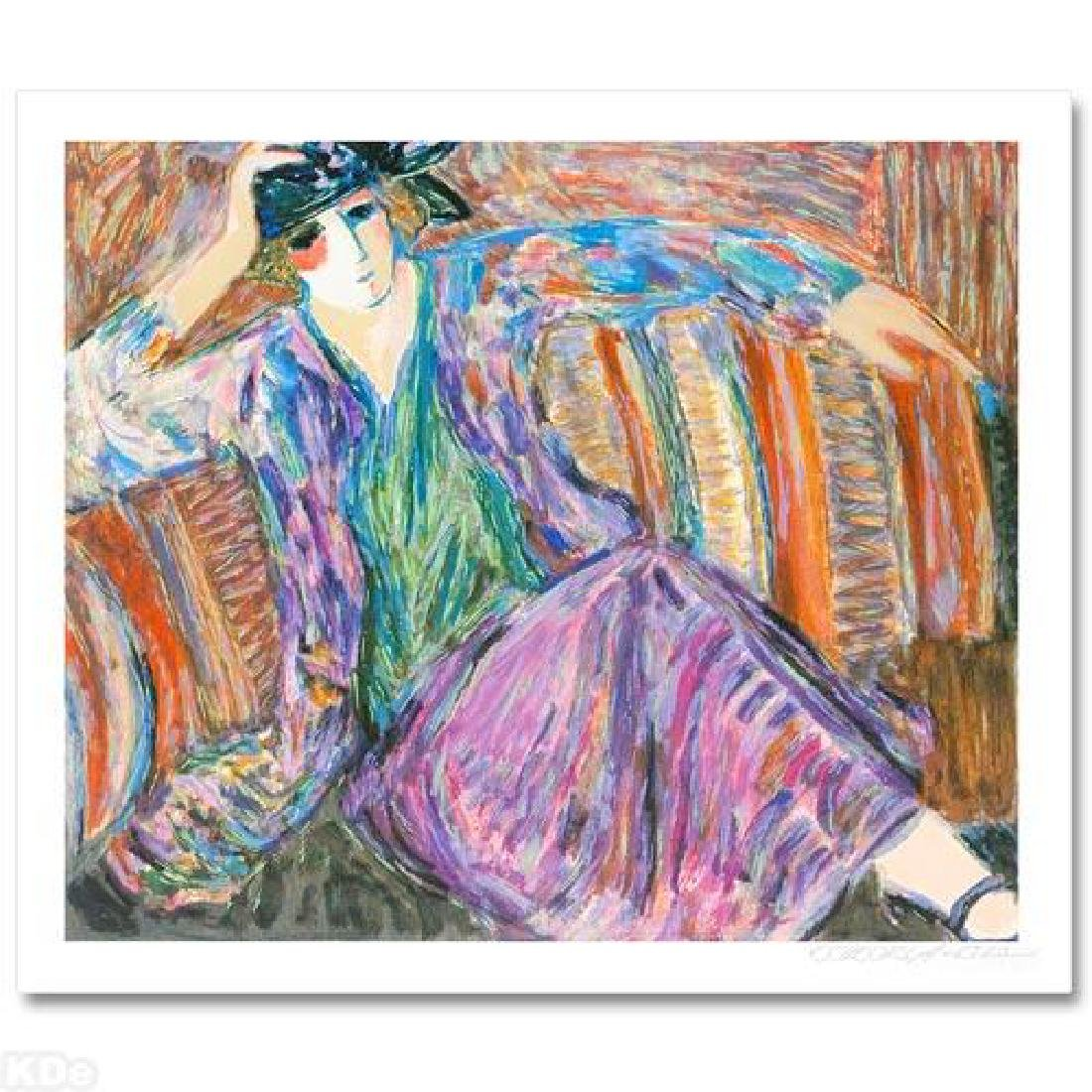 """""""Pensive Woman"""" Limited Edition Seriolithograph by"""