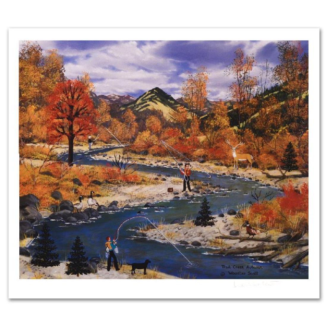 """Trail Creek Autumn"" Limited Edition Lithograph by Jane"