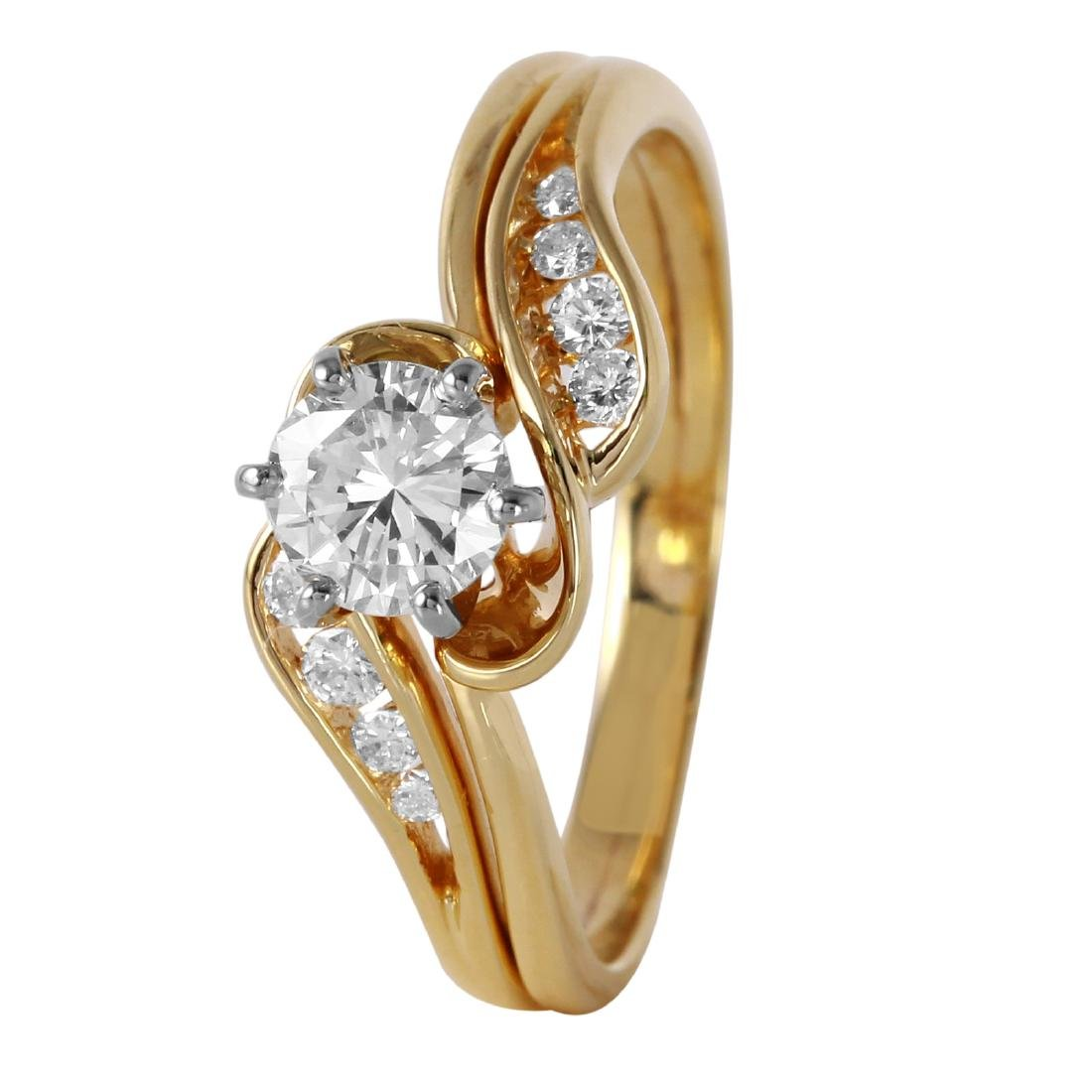 14KT Yellow Gold 0.55ctw Solitaire Diamond Engagement