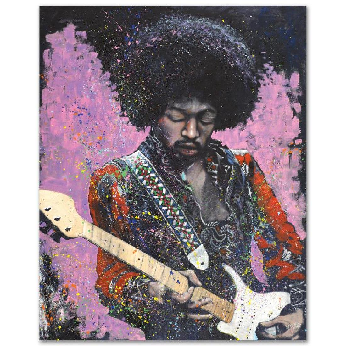 """Jimi"" LIMITED EDITION Giclee on Canvas by Stephen - 2"