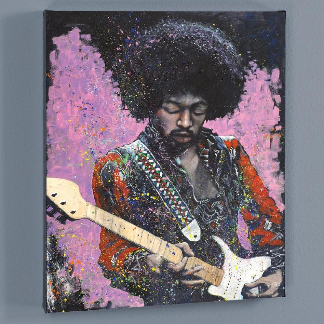 """Jimi"" LIMITED EDITION Giclee on Canvas by Stephen - 3"
