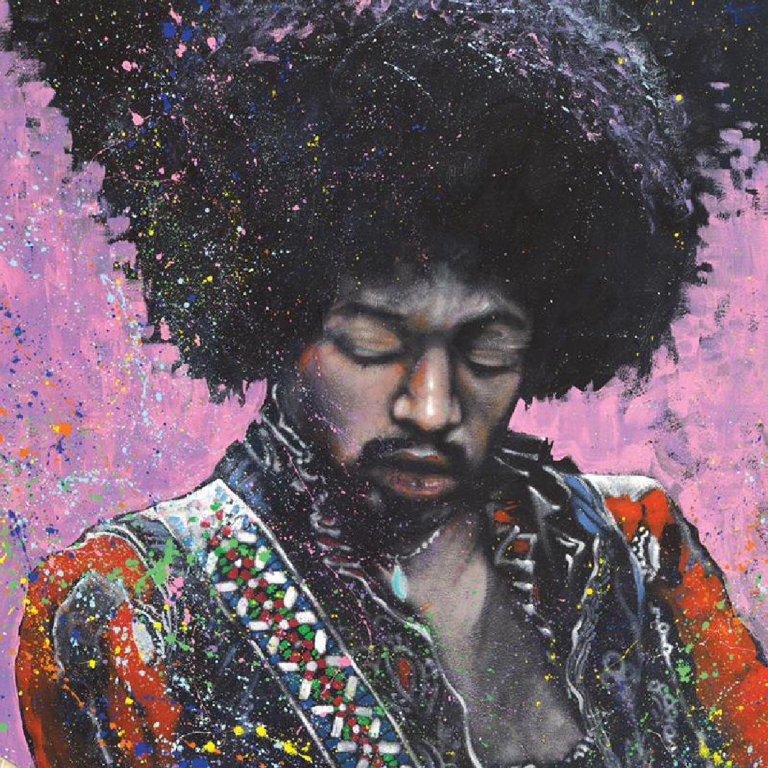 """Jimi"" LIMITED EDITION Giclee on Canvas by Stephen - 6"