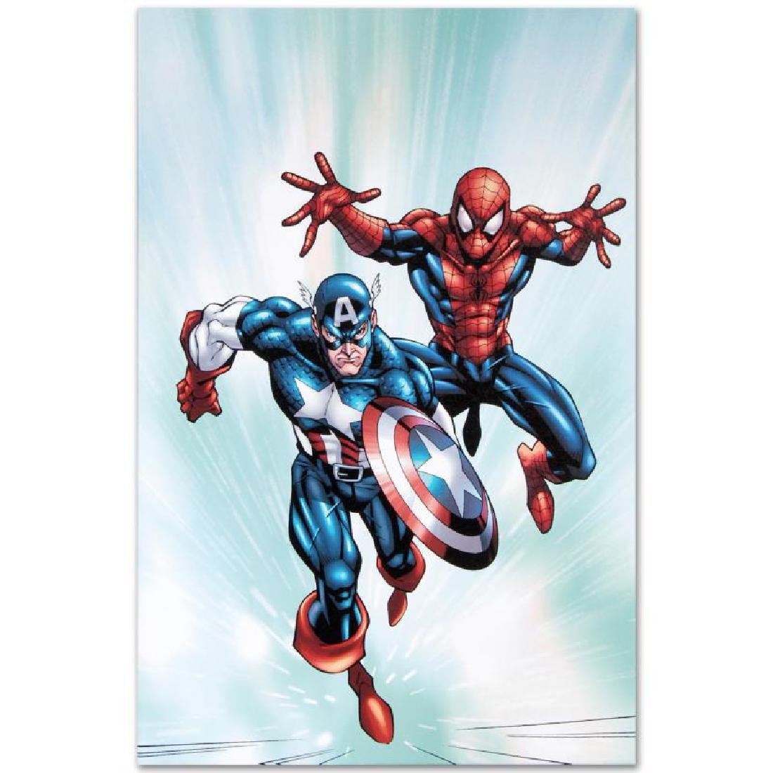 """Marvel Age Team Up #2"" LIMITED EDITION Giclee on - 4"